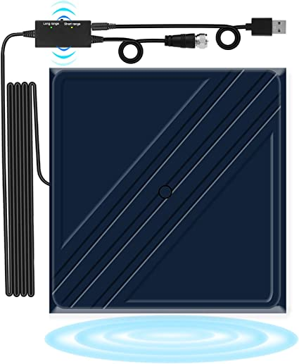 160 Miles TV Antenna HDTV Antenna Support 4K TV Antennas for Digital TV Indoor Antenna with Detachable Amplifier Signal Booster 16.5 ft Coax Cable