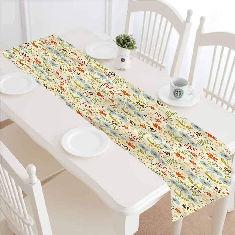Amazon Com Garden Decor Table Runner Dresser Scarves Dandelions Daisies Twigs Kitchen Table Runners 14x48 Inch Tabletop Collection For Party Wedding Baby Shower Decorations Dining Farmhouse Outdoor Picnics Tabl Home Kitchen