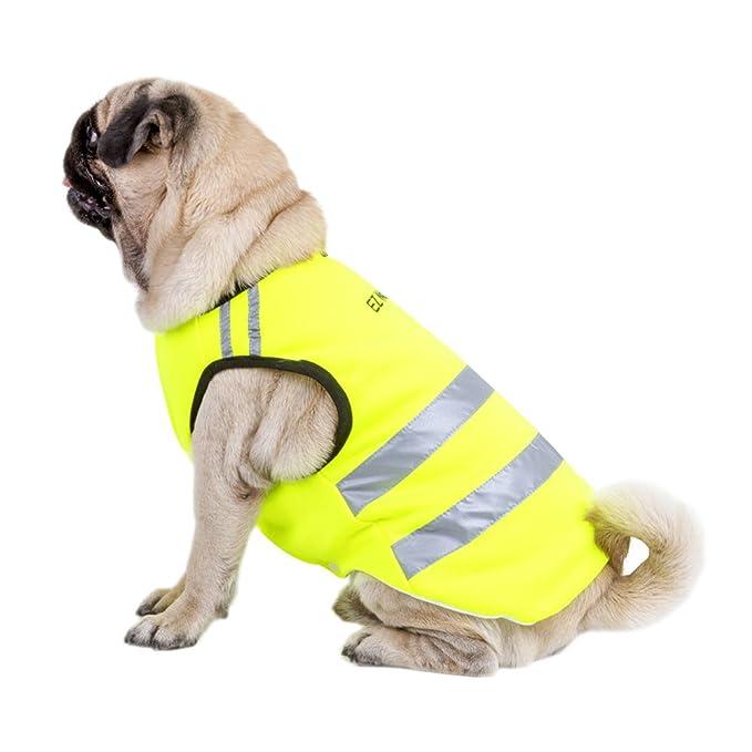 DOG HANDLER YELLOW PINK HI VIZ VIS WAISTCOAT VEST SAFETY DOG CANINE JACKET