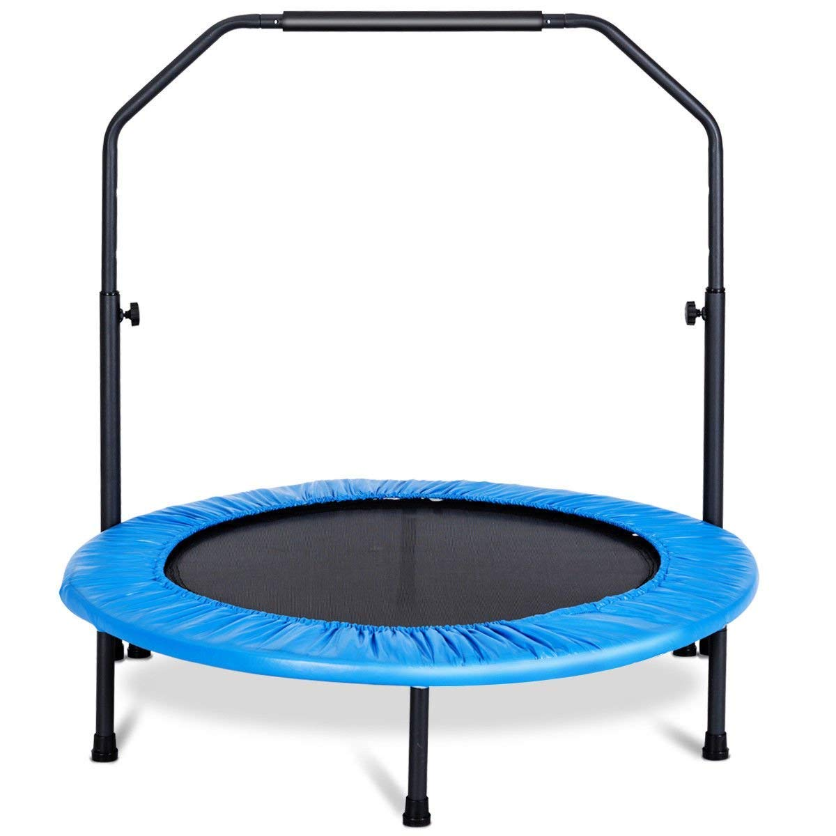 GYMAX Mini Trampoline, Rebounder Exercise Trampoline for Outdoor Indoor Fitness Workout, with Handle Rail by GYMAX (Image #2)