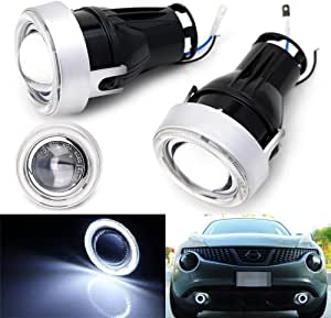 """NEW 2PC 3/"""" BLUE CCFL ANGEL EYE PROJECTOR FOG LAMPS FOR GMC HID READY HOT SALE"""