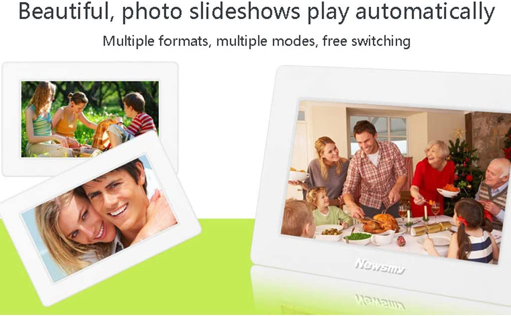 WHJ@ 7 Inch Digital Photo Frame 32G Capacity ABS Material Comes with Calendar Function 800480 Full HD,6MM Body