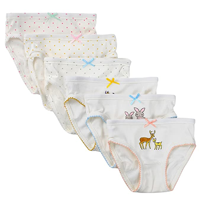 Ropa Interior para Niños peuqueños deKidear algodón Confortable Braguitas con Calzoncillos Surtidos de niñas con Bnudo