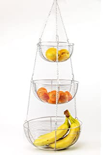 3 Tier Hanging Fruit Basket (Chrome)