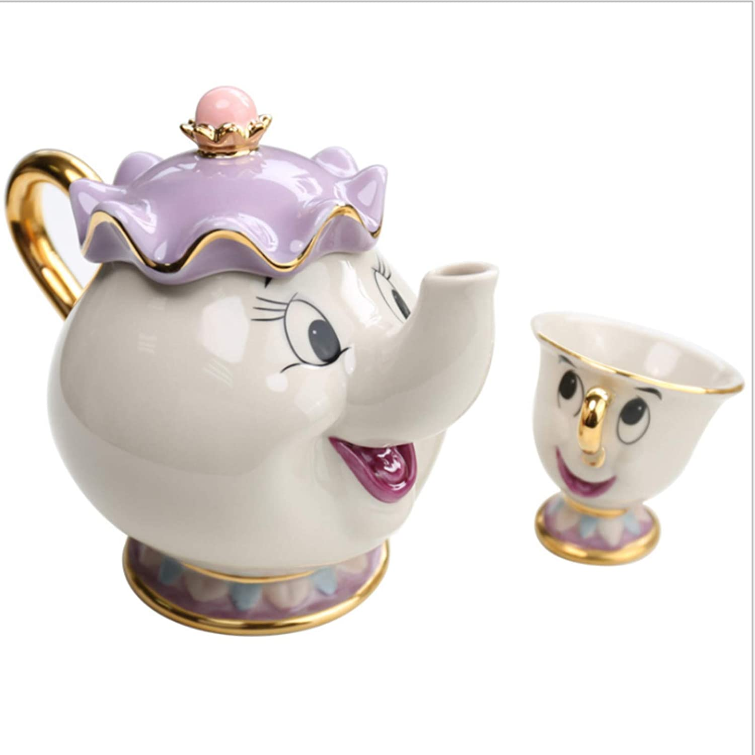 Beauty /& the beast teapot and cup mrs Potts  chip