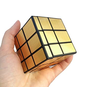 Buy Qiyi Mirror Cube 3x3 Speed Cube Gold Mirror Blocks Puzzle Online At Low Prices In India Amazon In
