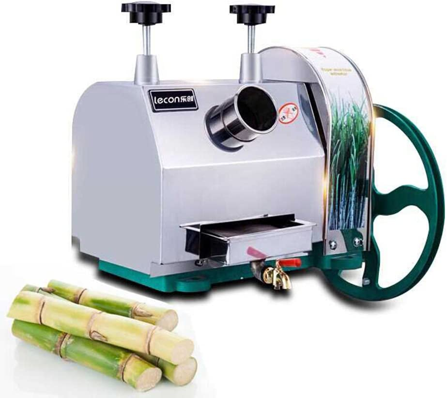 TOPCHANCES Manual Stainless Steel Sugar Cane Juicer Extractor Squeezer Hand Press Machine