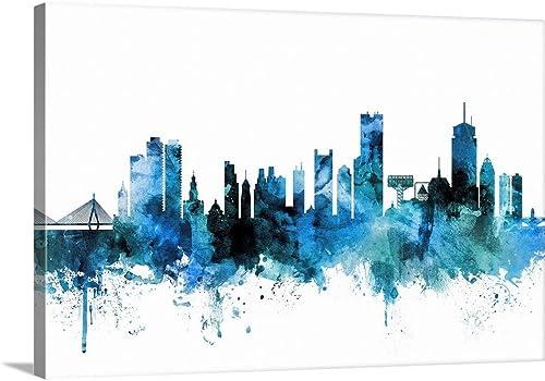 Boston Massachusetts Skyline Canvas Wall Art Print