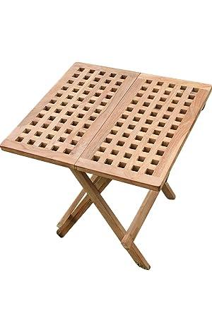 Olive Grove en teck massif pliante Table d\'appoint: Amazon.fr: Jardin