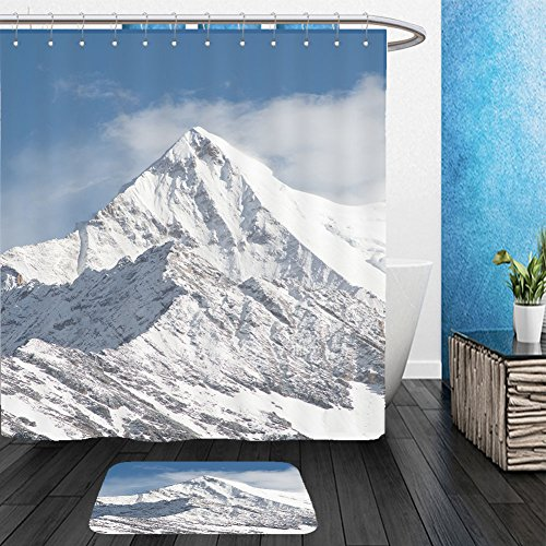 Mountain Province Costume - Vanfan Bathroom 2Suits 1 Shower Curtains & 1 Floor Mats mountain peak with snow yading national level reserve daocheng sichuan province china 350133155 From Bath room