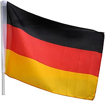 Idena 8310097 Autofahne Deutschland Größe 30 X 45 Cm Nationalflagge Schwarz Rot Gold Fensterfahne Wm Weltmeisterschaft Em Europameisterschaft Fußball Handball Fanartikel Autofenster Spielzeug