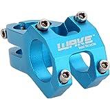 WAKE MTB lega di alluminio della bicicletta e attacco manubrio della bicicletta da montagna 31.8mm(rosso)