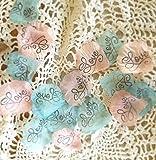 Wedding rose petals, Silk petals, Love Aqua and Light Pink,Flower Girl throw, Table scatter, flower girl petals wedding confetti, table decor by Burlap And Bling Design Studio