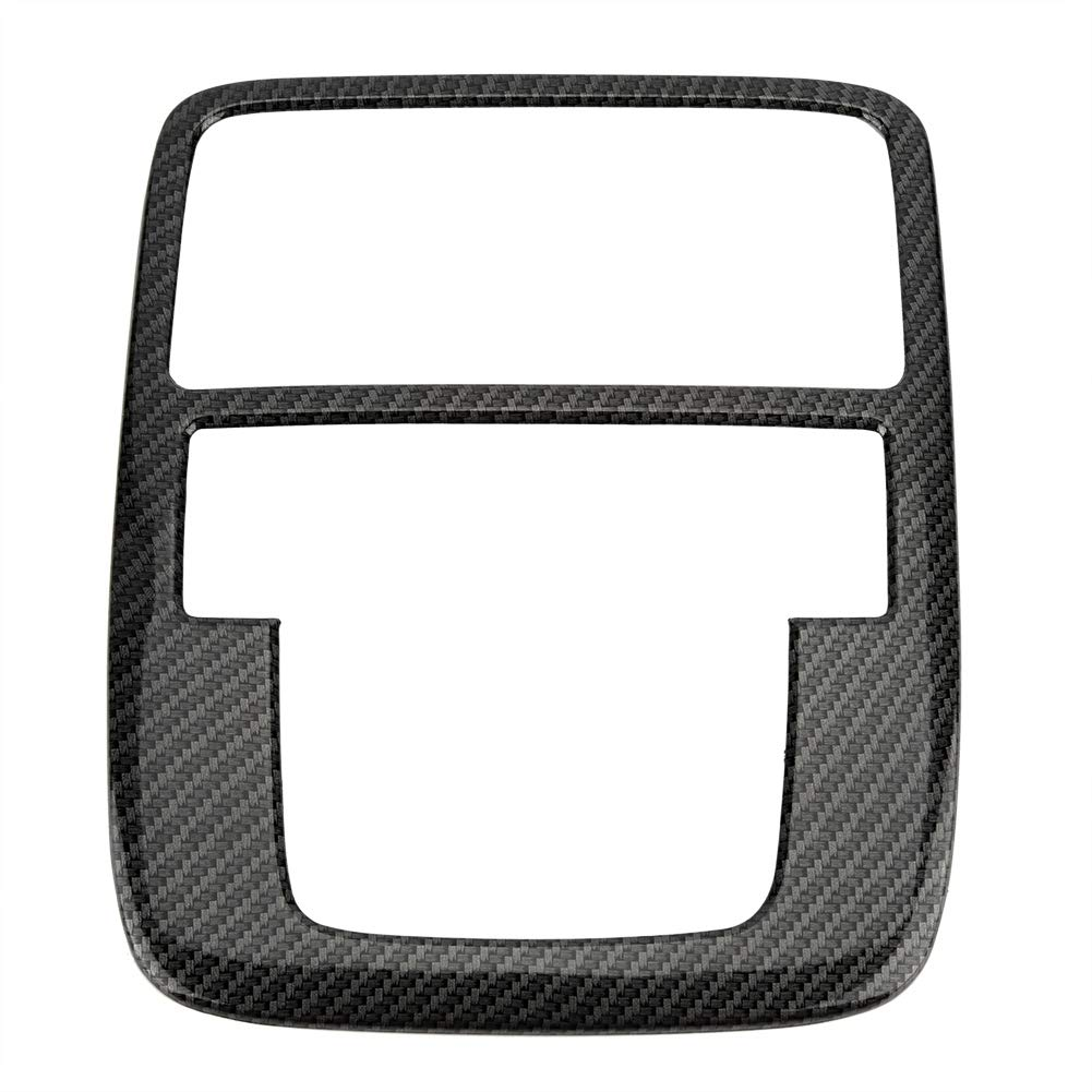 Duokon Car Reading Light Cover Trim, Styling Front Reading Light Carbon Fiber Cover Trim for Mg Zs Suv 2017-2018