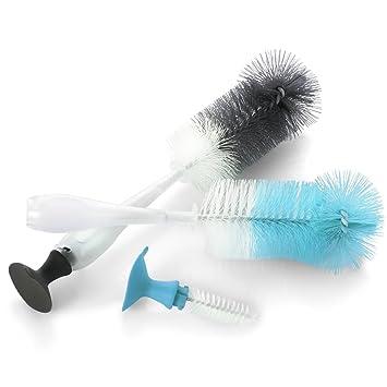 2 IN 1 Bottle/&Nipple Brush Bottle Brush Clean Cleaning Nipple Milk Bottles S