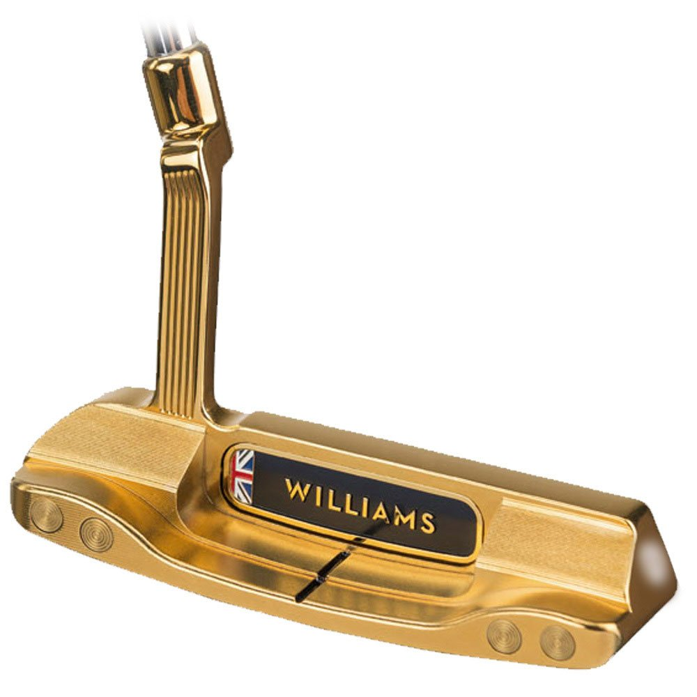 Amazon.com: Williams Oxfordshire de golf Milled Oro Putter ...