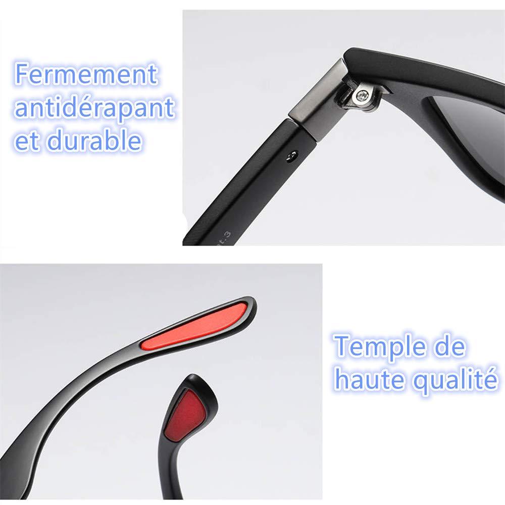 AukCherie Unisex Occhiali da sole polarizzati da Sole Effetto Legno per Uomo e Donna Lenti Colorate a Specchio o Sfumate con Protezione UV 400