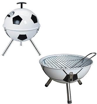 Diseño exclusivo de fútbol mesa construcción en acero inoxidable de barbacoa barbacoa de carbón