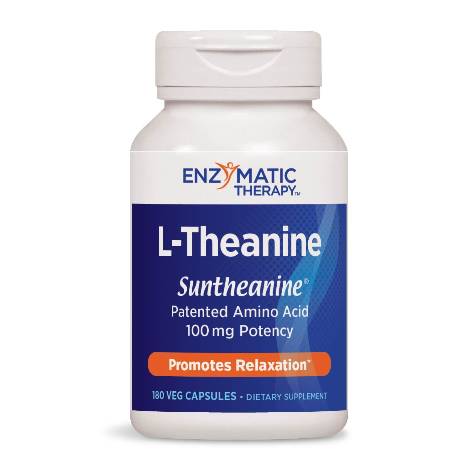Enzymatic Therapy L-Theanine Suntheanine® Brand Patented Amino Acid 100 mg Potency, 180 VCaps by Enzymatic Therapy