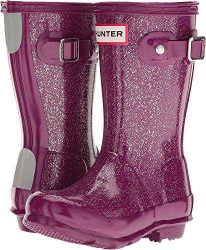 Kids Original Rain Boots - Hunter Girls' Original Glitter-K, Bright Violet, 11 M US Little Kid