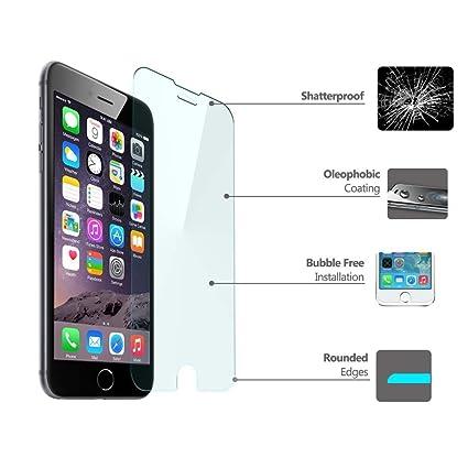 5b2e15413fd Protector pantalla cristal templado para IPHONE 6. film templado, vidrio  templado ULTRA RESISTENTE y