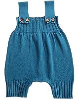Wennikids Baby Girls Boys Sweater Shoulder Strap Romper