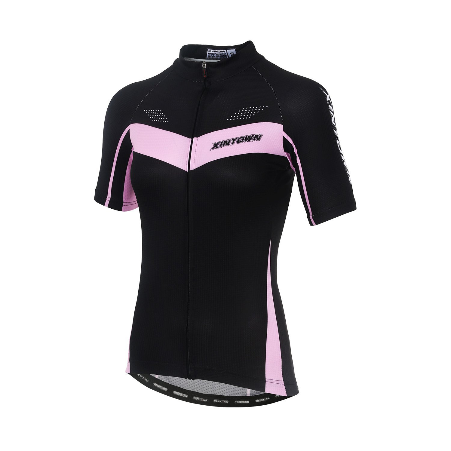 DuShow Women Cycling Jersey Short Sleeve Cycling Shirt Bicycle Bike Top Black 2(S) by DuShow