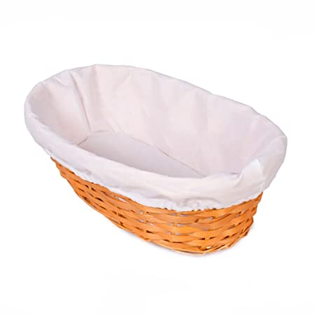 Great Value Bamboo Wicker Bread Basket Shop Display Christmas Hamper