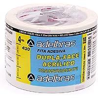 Fita Dupla Face, Adelbras 0639000017, Multicor, Pacote de 4