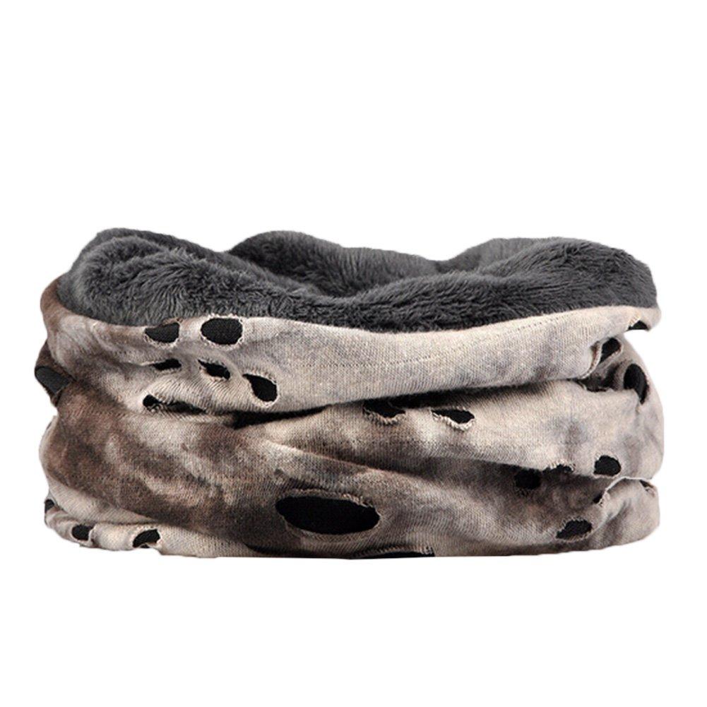 TININNA Unisex Inverno Caldo Multifunzione Sciarpa Scaldacollo Berretto di cotone Beanie Hat(Caffè)