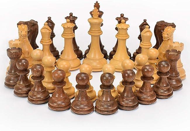 Juego de figuras de ajedrez de madera de calidad WXH, figuras de ajedrez en 3D, juego de madera, figuras talladas a mano, regalo para competición profesional, adultos, niños: Amazon.es: Hogar