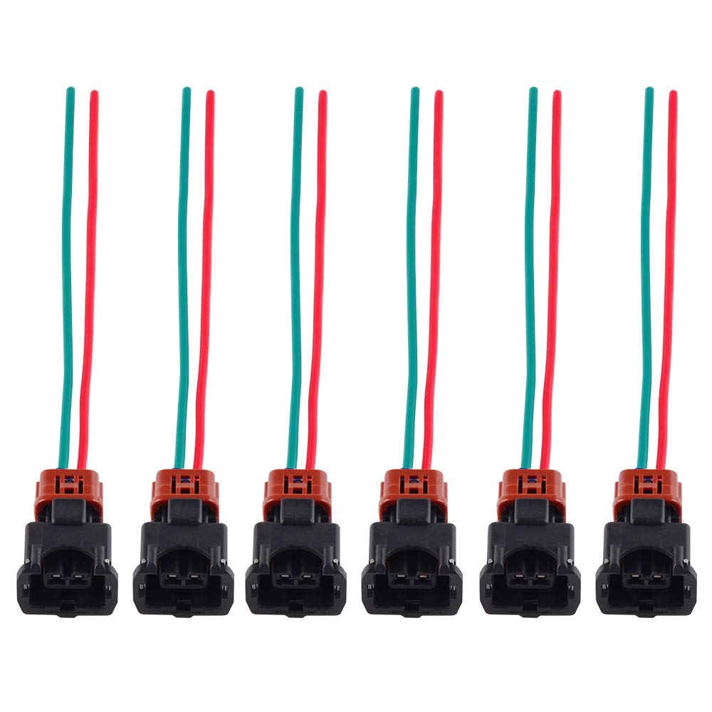 Phenomenal Amazon Com Nicecnc 6Pcs Fuel Injector Connector Wiring Harness With Wiring 101 Eumquscobadownsetwise Assnl