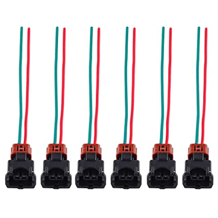 Amazon.com: Nicecnc 6PCS Fuel Injector Connector Wiring Harness with on nissan frontier wiring harness, nissan 300zx tail lights, nissan 300zx front end, nissan 300zx rebuilt engine, nissan 300zx timing marks, nissan 300zx new engine, nissan 300zx fuel injectors, nissan 300zx exhaust system, nissan 300zx parts diagram, nissan 300zx headlight, nissan 240sx wiring harness, nissan 300zx supercharger kit, nissan 300zx corner light, nissan 300zx engine swap, nissan titan wiring harness, nissan altima wiring harness, nissan 300zx louvers, nissan 300zx fuel pump relay, nissan 300zx rear end, nissan truck wiring harness,