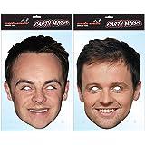 Ant & Dec Twin Pack Celebrity Face Masks