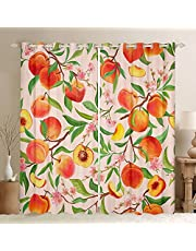 Firefly Print Curtains,Natural Scenery Window Curtains for Boys Girls Teens,Glowing Insect Window Treatment Curtains Home Decor,Beautiful Night Darkening Drapes for Living Room Bedroom,76Wx45L