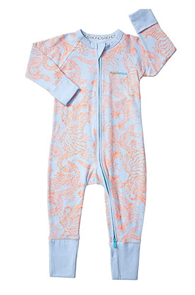 Bonds Baby Wondersuit 2 Way Zip Sleep And Play Fold Over Hand Feet