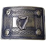Men's Celtic Kilt Belt Buckle Irish harp Antique Finish/Kilt Belt Buckle Celtic