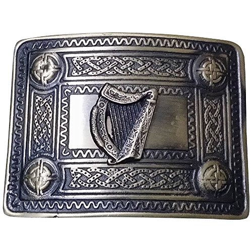 Men's Celtic Kilt Belt Buckle Irish harp Antique Finish/Kilt Belt Buckle - Belt Irish