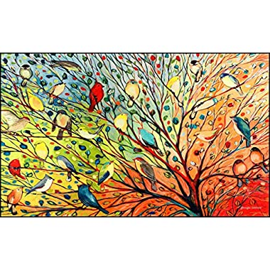 Toland Home Garden Tree Birds 18 x 30-Inch Decorative USA-Produced Standard Indoor-Outdoor Designer Mat 800038
