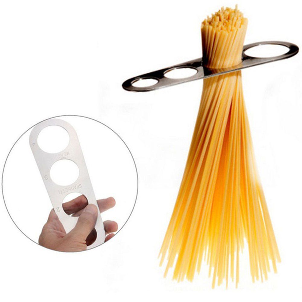 Stainless Steel Spaghetti Measure Measurer,Stainless Steel Spaghetti Pasta Measure Tool,4 Serving Portion Control Cooking Tools,Pasta Portion Control Gadgets(silver) by YOTHG (Image #1)