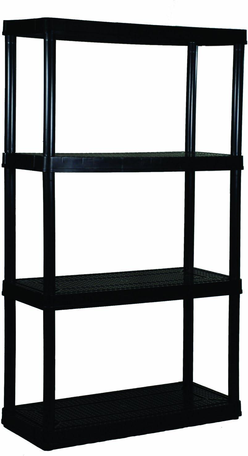 4 Medium Duty Shelf Unit Black 2 Pack 32X14X54.5