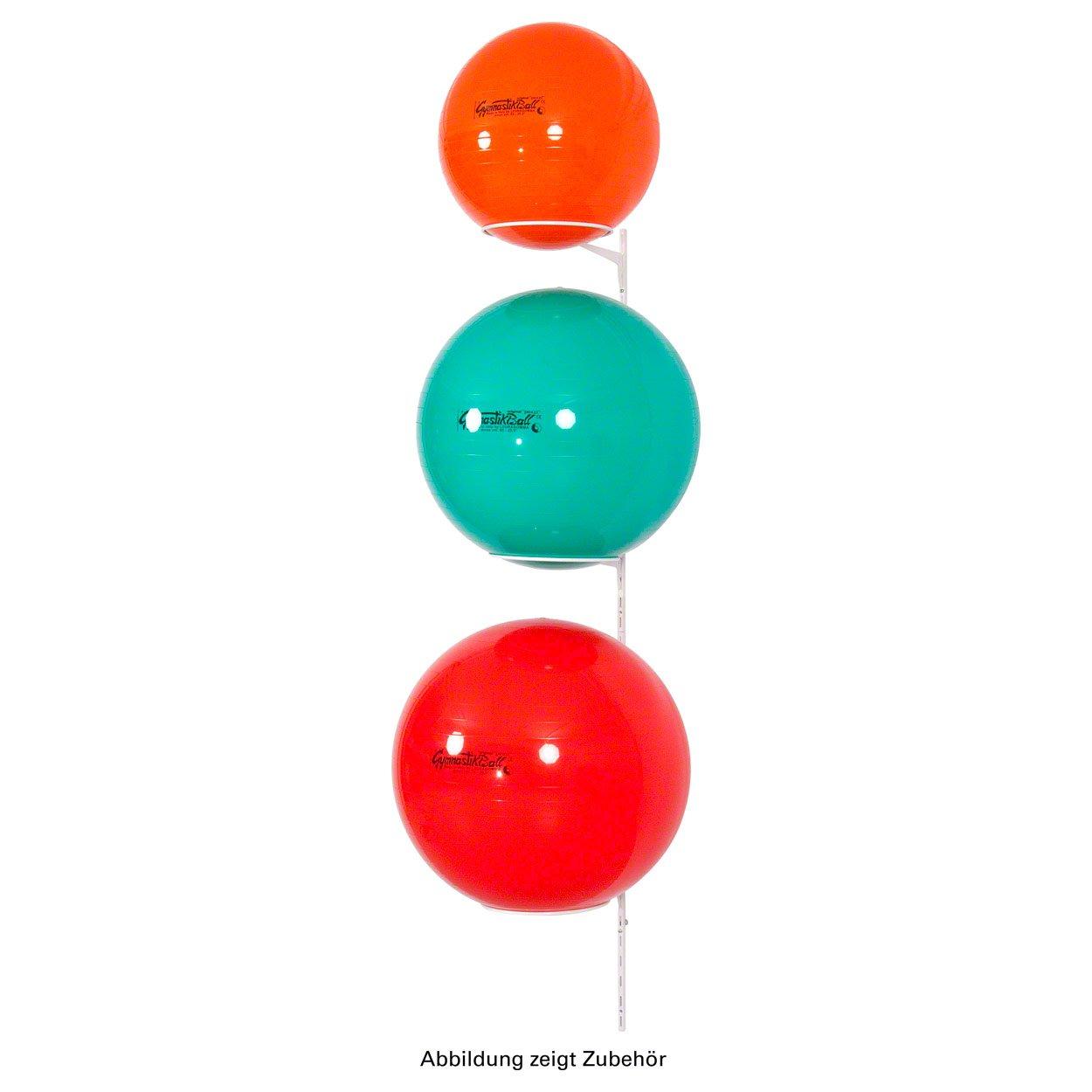 Ballhalter für 3 Gymnastikbälle Wandhalterung Aufbewahrungshilfe Wandhalter WEIß