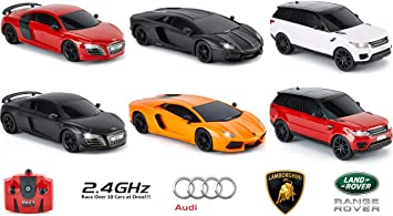 AUDI R8 GT, Official Licensed Remote Control Car for Kids with Working Lights, Radio Controlled On Road RC 1:24 Model, 2.4Ghz Matt (MATT BLACK) Great