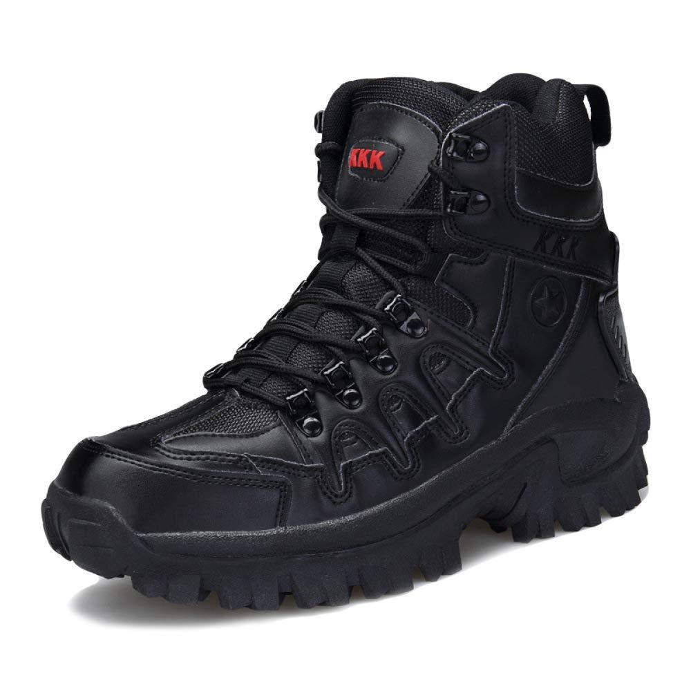 LIJUN Winter Stiefel Herren Rutschfest Hi-Top Stiefel Warm Gemütlich Arbeit Wandern Schuhe Größe: 38-45