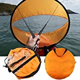 CAMTOA 46'' Outdoor Wind Sail Paddle Kayak Downwind Kit,Kayak Canoe Accessories - Compact, Portable, Easy Setup & Deploys Quickly