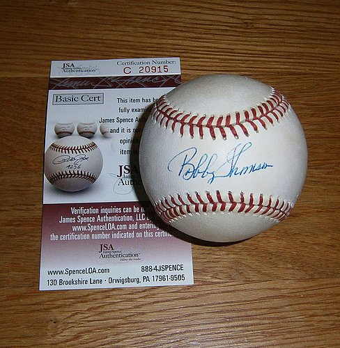 Giants Bobby Thomson Autographed Signature Baseball Auto - JSA Certified (Baseball Thomson Signature)