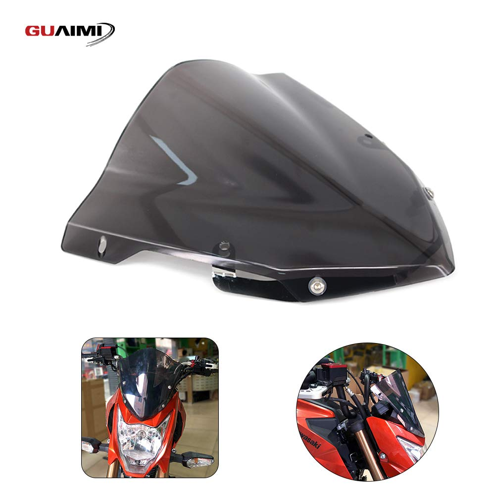 GUAIMI Motorcycle Windscreen Windshield Sport Screen Wind Deflector for Kawasaki Z125 2015-2018