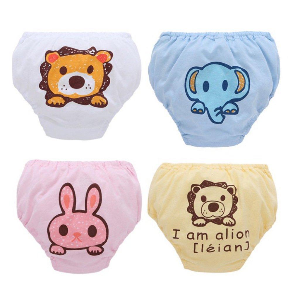 BOBORA Lot de 4 Culottes d'apprentissage en Coton pour Bébé Garçon Fille 0-2Ans BO-UK245S*3