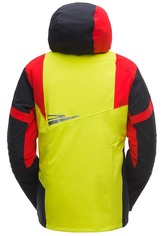 /Chaqueta de esqu/í Amarillo Negro Rojo Spyder Titan Jacket/