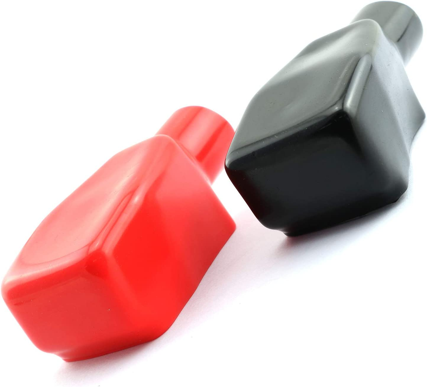 1 Pair of PVC Car Air Battery Terminal Covers Positive And Negative Black /& Red